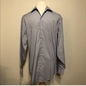Geoffrey Beene BlueWhite Dress Shirt -15.5x 32/33